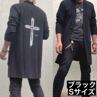 【winter】ロングニットカーディガン・ブラックSサイズ