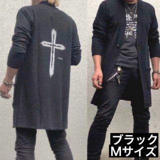 【winter】ロングニットカーディガン・ブラックMサイズ