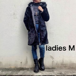 【winter】ジップアップエコファーコート(レディース M)
