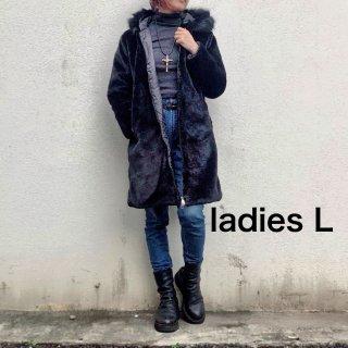 【winter】ジップアップエコファーコート(レディース L)