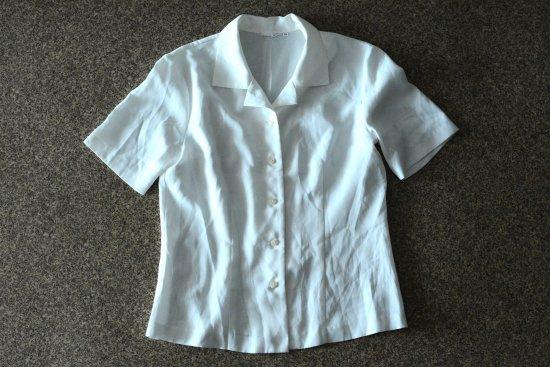 Vintage PLAY HOUSE 半袖 開襟 シャツ ホワイト (レディース古着)