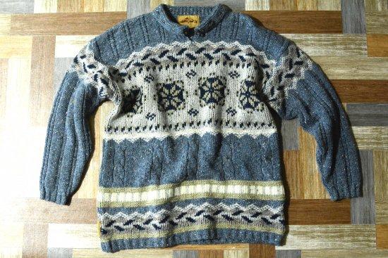Vintage SNOWY PEAK ノルディック ニット セーター (メンズ古着)