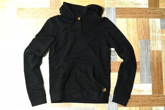carhartt ロゴ パーカー ブラック (レディース古着)