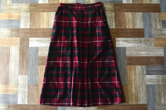 robe de chambre COMME des GARCONS AD1997 ウール タータンチェック ロング スカート (レディース古着)