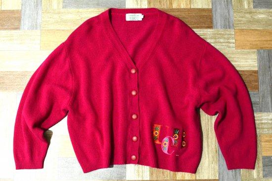 90's Vintage UNITED COLORS OF BENETTON ショート丈 ウール ニット カーディガン (レディース古着)