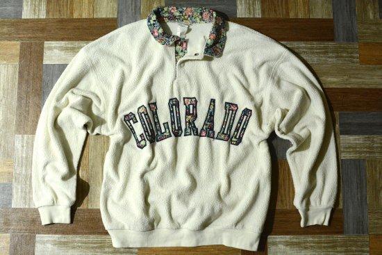 Vintage 花柄 スナップ フリース COLORADO (メンズ古着)