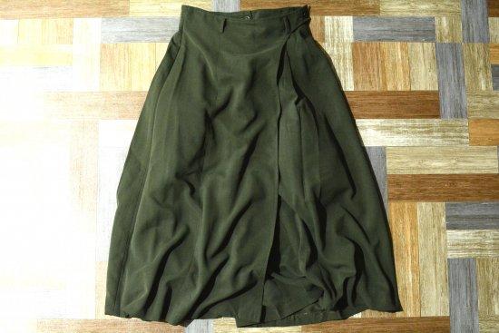 Vintage TED LAPIDUS 巻きスカート風 スカーチョ オリーブグリーン (レディース古着)