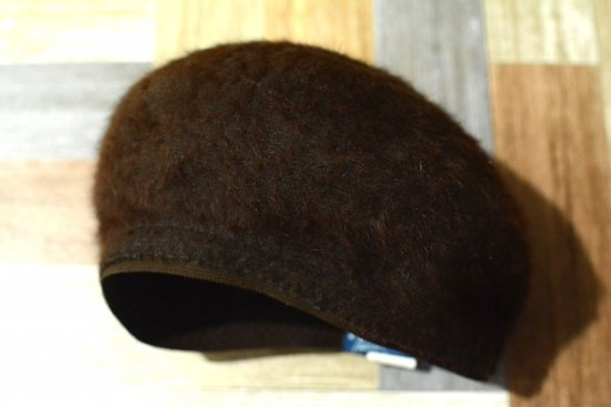 90's Vintage KANGOL イングランド製 モヘア ベレー帽 ブラウン (USED&VINTAGE)