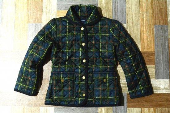 RALPH LAUREN タータンチェック 中綿 キルティング ジャケット 120サイズ (キッズ古着)