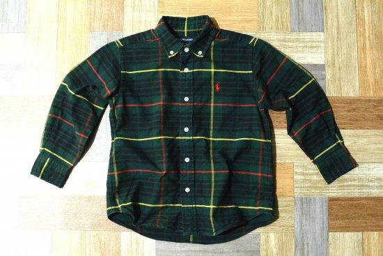 RALPH LAUREN BD タータンチェック シャツ グリーン 110サイズ (キッズ古着)