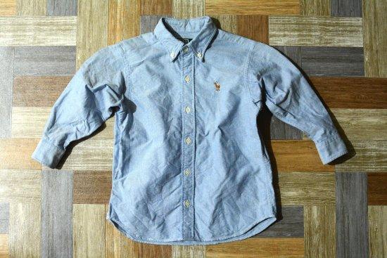POLO RALPH LAUREN BD オックスフォード シャツ ライトブルー 110サイズ (キッズ古着)