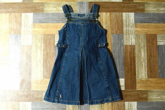 RALPH LAUREN デニム ジャンバースカート 130サイズ (キッズ古着)