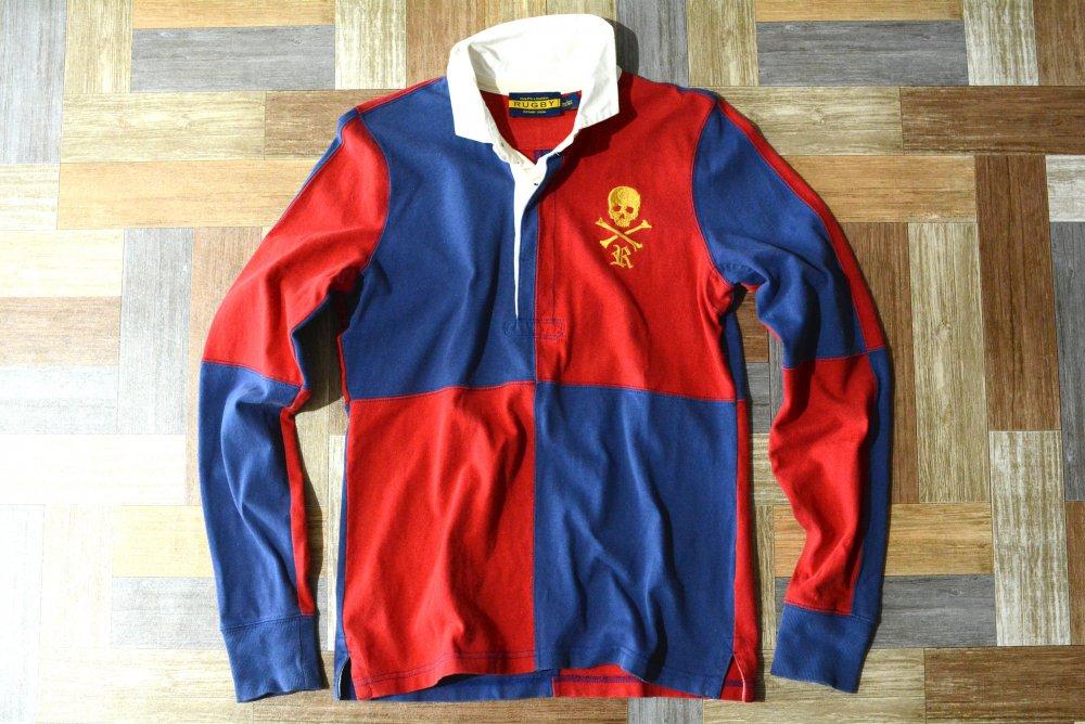 RUGBY RALPH LAUREN スカル ラガーシャツ 170サイズ (キッズ古着)