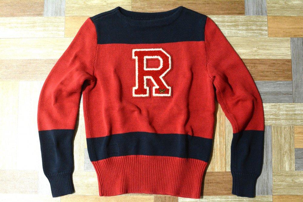 RUGBY RALPH LAUREN Rロゴ コットンニット セーター (メンズ古着)