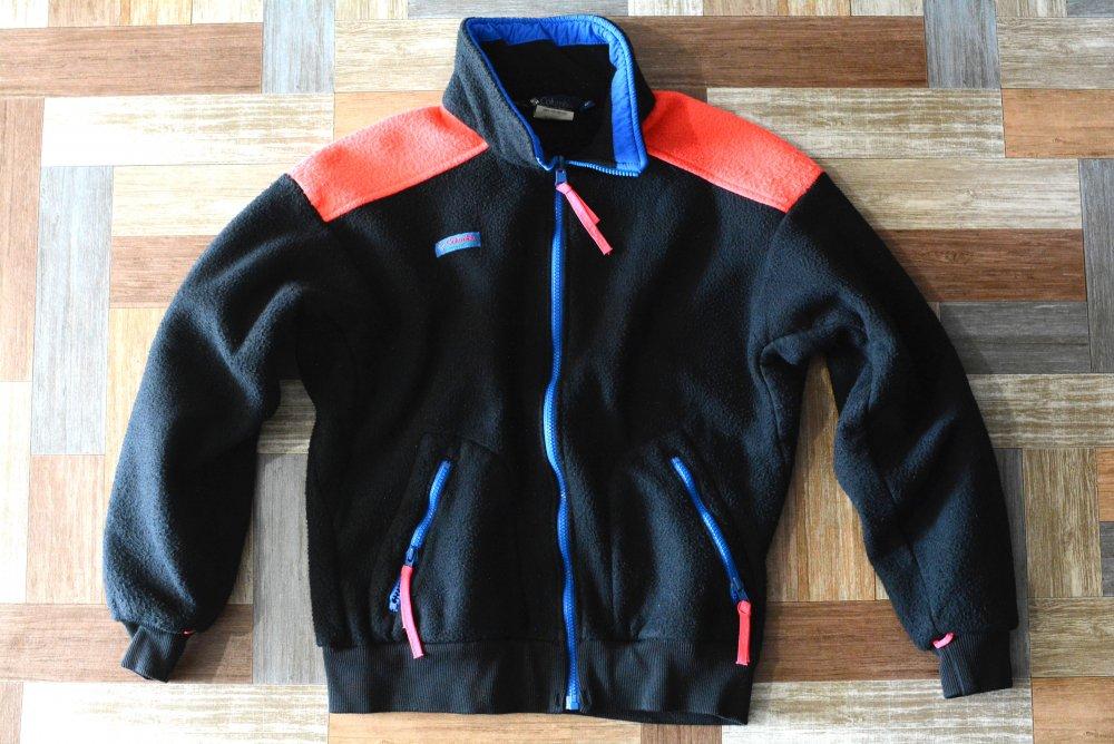 90's Vintage Columbia USA製 フリース ジャケット ブラック×ピンク (メンズ古着)