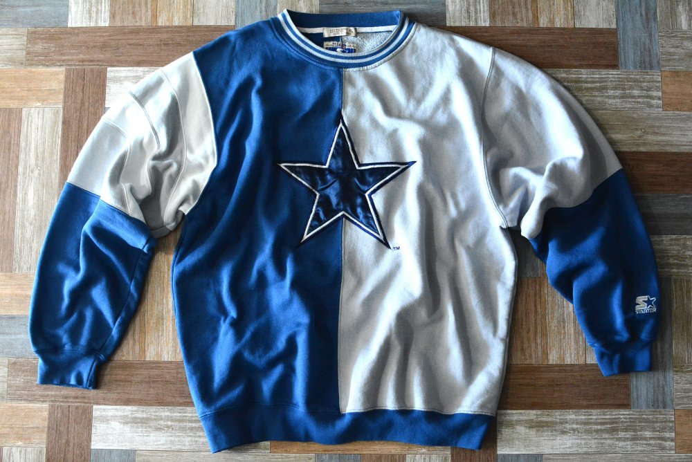 90's Vintage STARTER Dallas Cowboys バイカラー スウェット (メンズ古着)