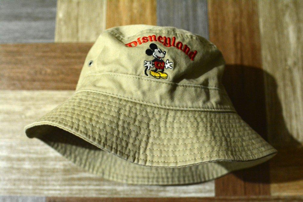 90's Vintage GOOFY'S HAT ミッキー バケットハット ベージュ (USED&VINTAGE)