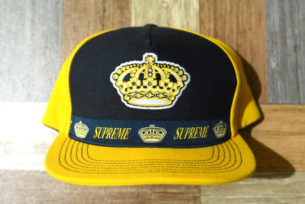 Supreme Crown 5-Panel Cap ネイビー×イエロー (USED&VINTAGE)