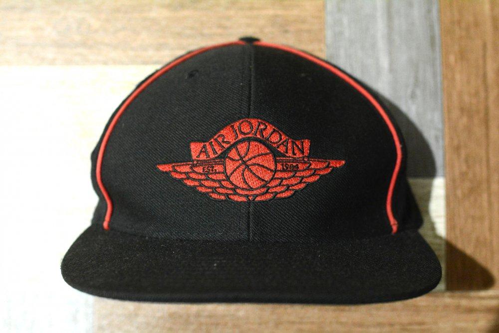 NIKE AIR JORDAN ウール ロゴ キャップ ブラック (USED&VINTAGE)