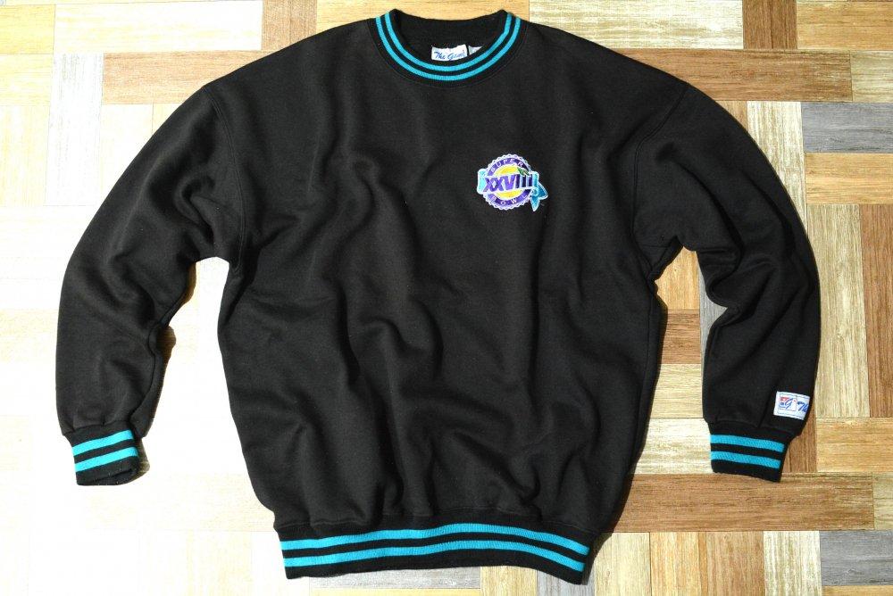 80's Vintage The Game SUPER BOWL リブライン スウェット ブラック (メンズ古着)