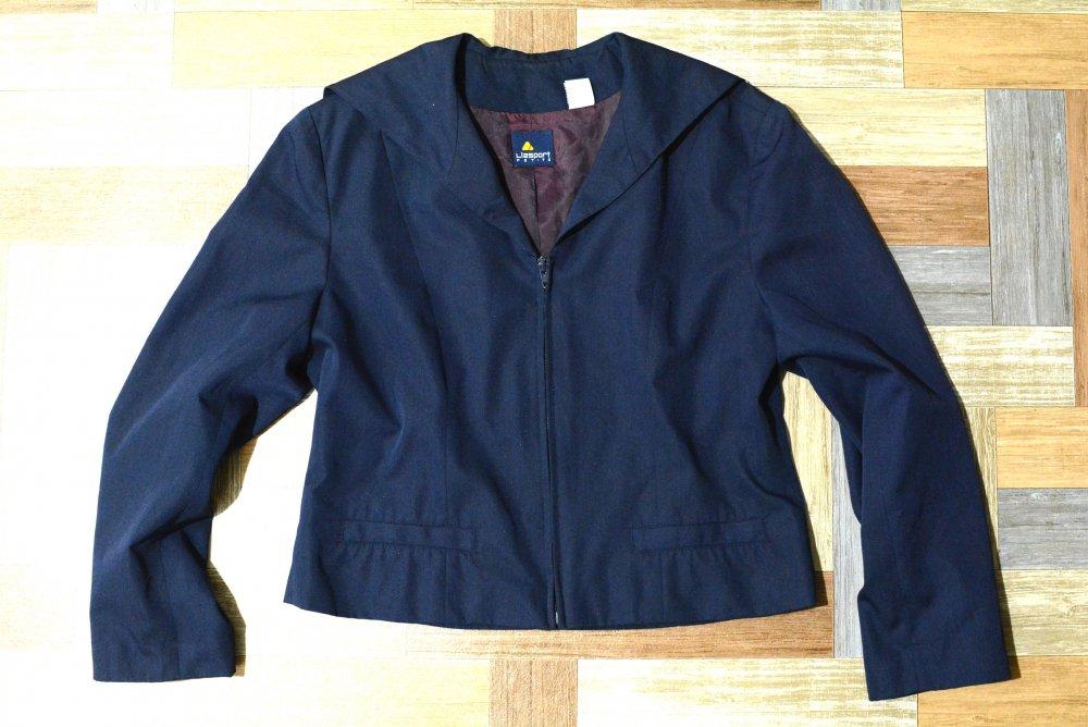 90's Vintage Liz sport セーラーカラー ジャケット ネイビー (レディース古着)