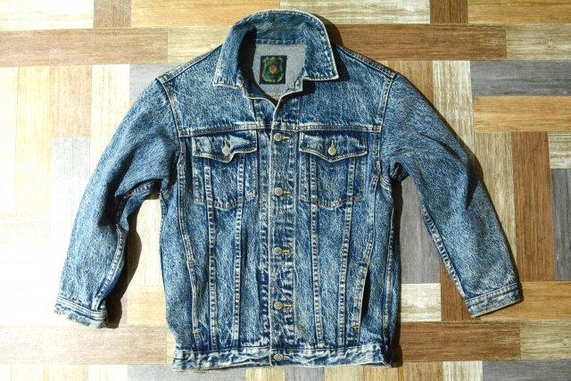90's Vintage ケミカル デニム ジャケット 160サイズ (キッズ古着)