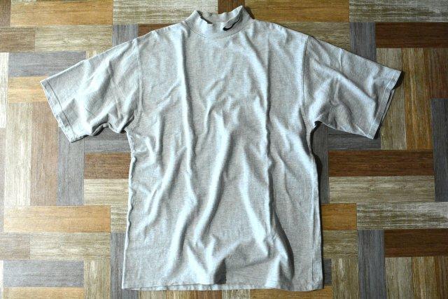 90's Vintage NIKE ロゴ刺繍 モックネック Tシャツ 杢グレー (メンズ古着)