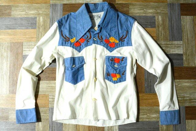 Vintage メキシコ製 刺繍 ウェスタン シャツ (レディース古着)