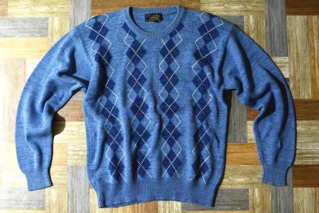Brooks Brothers アーガイル コットンニット セーター (メンズ古着)