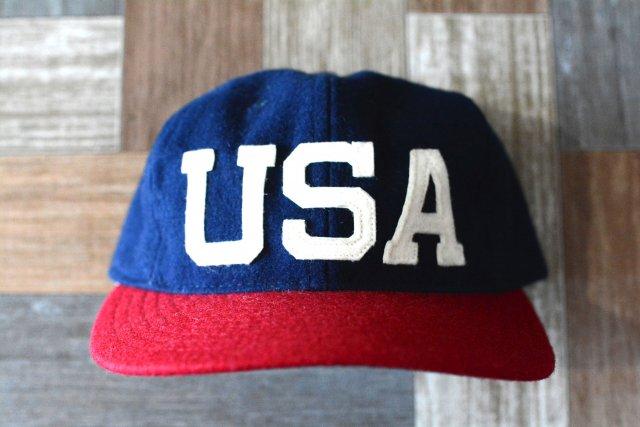EBBETS FIELD USA製 ツートーン ベースボール キャップ ネイビー×レッド (USED&VINTAGE)