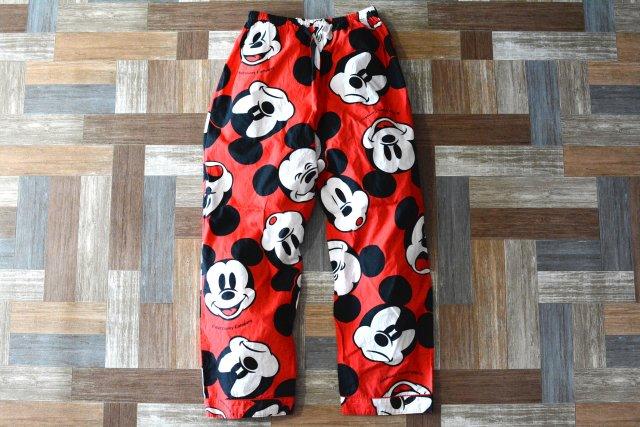 Vintage ミッキーマウス パジャマ パンツ (メンズ古着)