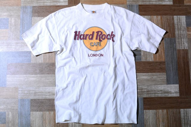 90's Vintage Hard Rock CAFE LONDON プリント Tシャツ ホワイト (メンズ古着)