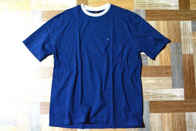 90's Vintage TOMMY HILFIGER リンガー Tシャツ ネイビー (メンズ古着)