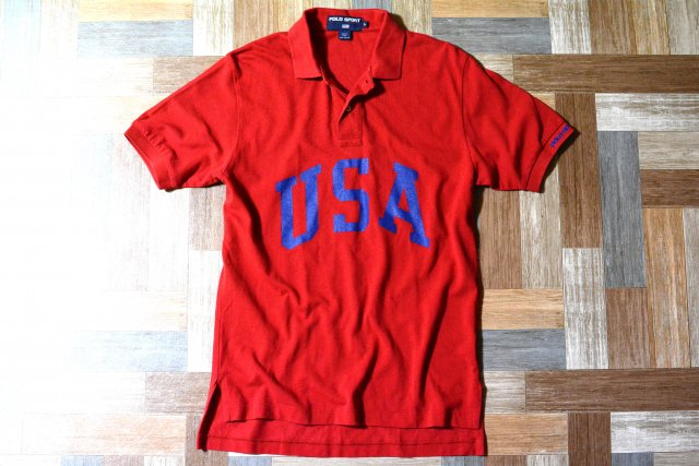 90's Vintage POLO SPORT RALPH LAUREN USA ポロシャツ レッド (メンズ古着)