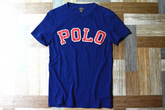 POLO RALPH LAUREN ロゴ Tシャツ ネイビー (メンズ古着)