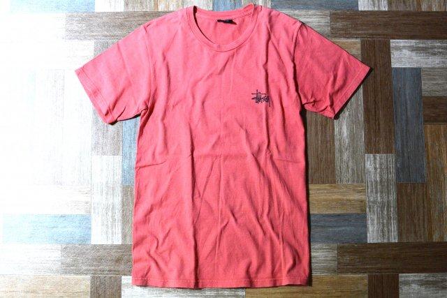 STUSSY ロゴ Tシャツ アプリコット (メンズ古着)