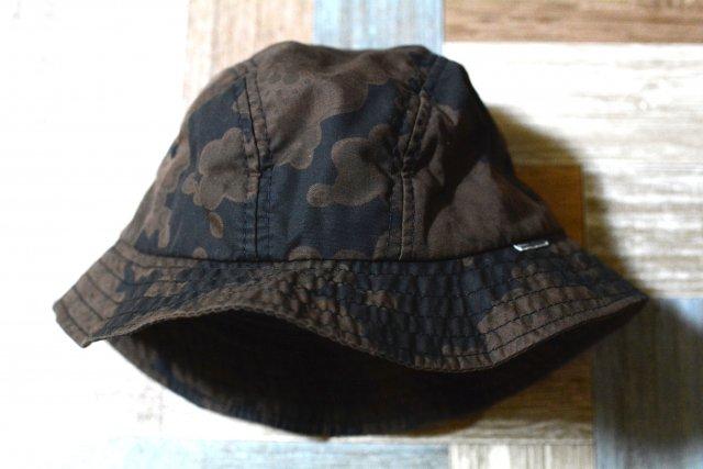 90's Vintage STUSSY USA製 花柄 バケットハット ブラック×ブラウン (USED&VINTAGE)