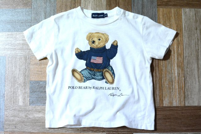 <img class='new_mark_img1' src='https://img.shop-pro.jp/img/new/icons15.gif' style='border:none;display:inline;margin:0px;padding:0px;width:auto;' />RALPH LAUREN ポロベアー Tシャツ 80サイズ (キッズ古着)
