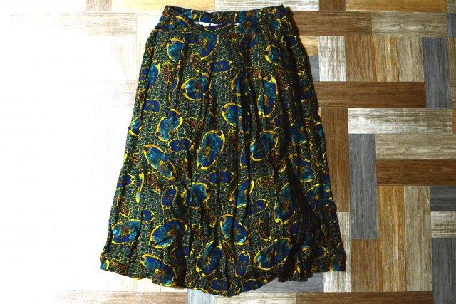 80〜90's Vintage PENDLETON USA製 レーヨン 総柄 ロング スカート (レディース古着)