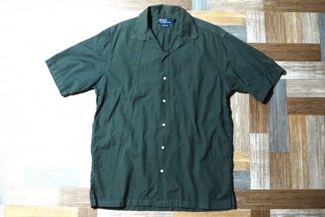 90's Vintage POLO RALPH LAUREN 半袖 開襟 シャツ CALDWELL カーキ (メンズ古着)