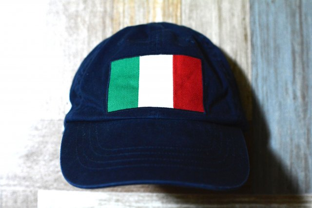 POLO RALPH LAUREN イタリア国旗 キャップ ネイビー (USED&VINTAGE)