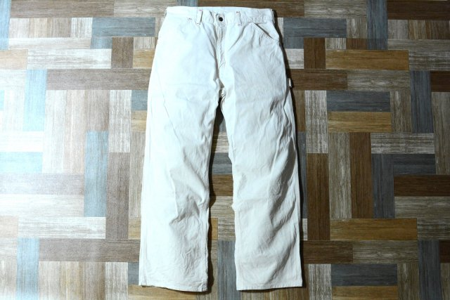 90's Vintage carhartt USA製 コットン ペインター パンツ オフホワイト (メンズ古着)