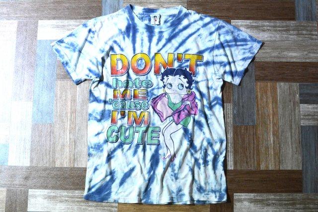 90's Vintage ベティ ブープ タイダイ Tシャツ (メンズ古着)