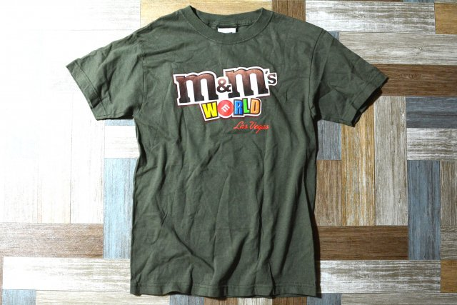 90's Vintage m&m's USA製 プリント Tシャツ カーキ (レディース古着)