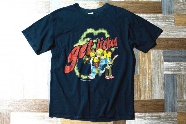 00's ローリング ストーンズ × シンプソンズ オフィシャル ツアー Tシャツ ブラック (メンズ古着)