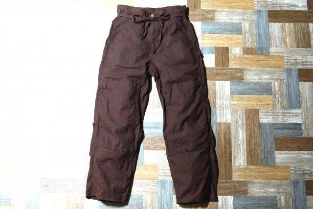 Lee コットン × リネン ドローストリング ペインター パンツ チョコレートブラウン (メンズ古着)