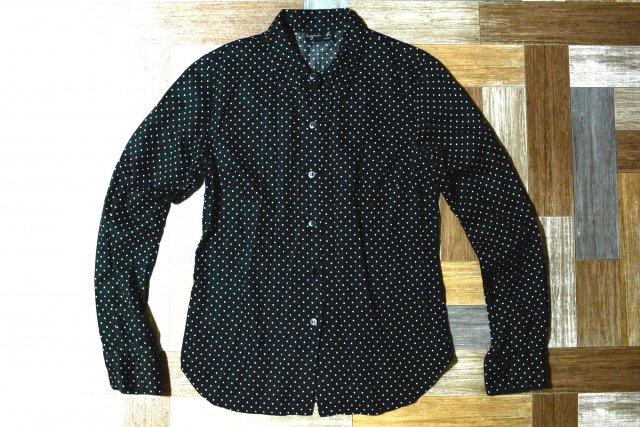 90's Vintage agnes b. ドット シャツ ブラック×ホワイト (レディース古着)