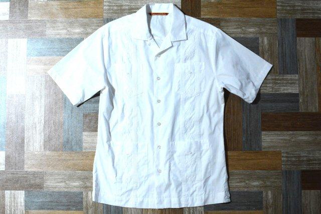 HAVANerA キューバ シャツ ホワイト (メンズ古着)