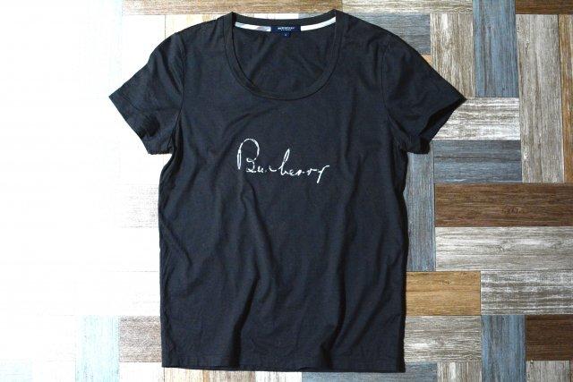 BURBERRY LONDON 筆記体 ロゴ Tシャツ チャコールグレー (レディース古着)
