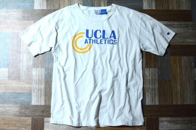 Champion × UCLA USA製 ヘビーウェイト Tシャツ ホワイト (メンズ古着)